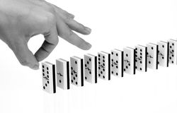 Domino effect Stock Photo