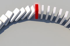 Domino effect. The domino effect in action Stock Photos