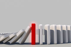 Domino effect. The domino effect in action Royalty Free Stock Photography