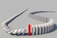 Domino effect. The domino effect in action Stock Photo