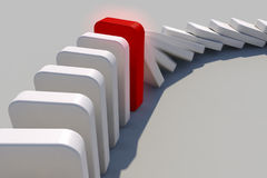 Domino effect. The domino effect in action Royalty Free Stock Photo
