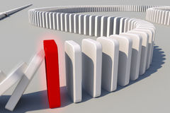 Domino effect. The domino effect in action Stock Image