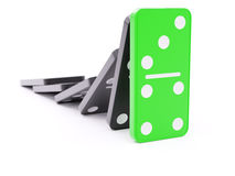 Domino effect barrier concept Stock Images