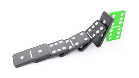 Domino effect barrier concept Stock Photography