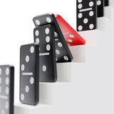 Domino effect on career ladder concept Stock Images