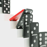 Domino effect on career ladder concept Royalty Free Stock Photo