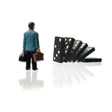The Domino Effect Stock Images