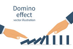 Domino effect concept royalty free illustration