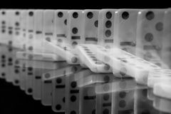 Domino effect Stock Photography
