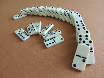 Domino effect. Royalty Free Stock Image
