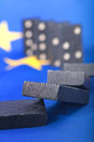 Domino Effect - Financial Crisis in Europe Stock Photo