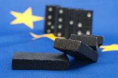 Domino Effect - Financial Crisis in Europe Stock Photos
