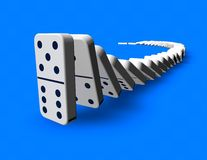 Domino effect idea 3D rendering. Stock Photography