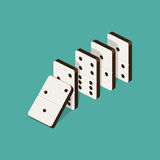 Domino effect isometric vector illustration. Domino effect isometric style colorful vector illustration Stock Images