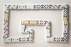 The domino effect Stock Image