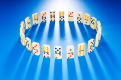 Domino effect with   pieces Royalty Free Stock Photo