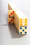 Domino effect with  pieces Royalty Free Stock Photography