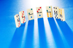Domino effect with  pieces Royalty Free Stock Images