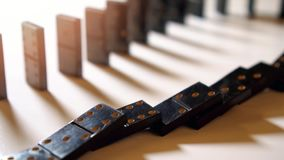 Domino effect stock footage