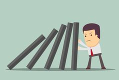 Domino effect and problem solving Stock Photography