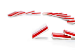 Domino Effect in Red Stock Photography