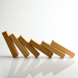 Domino effect Stock Image