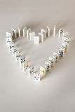 The domino effect Stock Photography