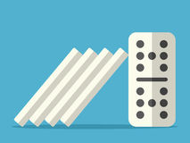 Domino effect stopped royalty free illustration