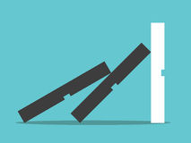 Domino effect stopped vector illustration