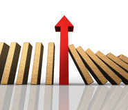Domino Effect Success Stock Photo