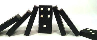 Domino effect - under pressure Royalty Free Stock Images