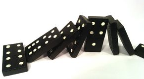 Domino effect - under pressure Stock Photos