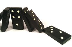 Domino effect - under pressure Royalty Free Stock Image