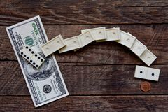 Domino effect, wealth - poverty Stock Images