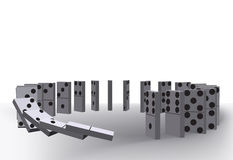 Domino effect Royalty Free Stock Images