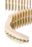 Domino-Effekt stockbild