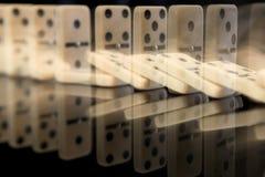 Domino-Effekt stockfotos