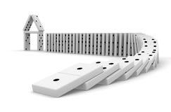 Domino-Effekt Stockfotografie