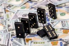 Domino en de dollar van de V Royalty-vrije Stock Fotografie