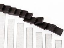 Domino en van de verkoopdaling diagram Royalty-vrije Stock Afbeeldingen