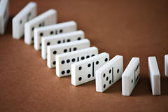 Domino entertainment play game Stock Photos