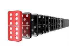 Domino, Erfolgskonzept stock abbildung