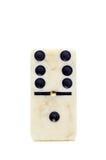 Domino för en tegelplatta som isoleras på vit bakgrund Royaltyfri Fotografi