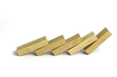 Domino falling pieces Stock Image