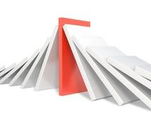 domino figure red Fotografering för Bildbyråer