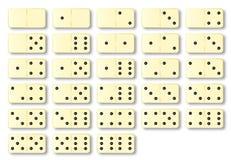 Domino fissati in avorio sopra bianco illustrazione di stock