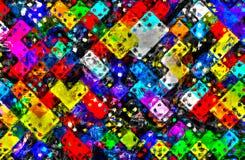 Domino formt Rechteckgeometrieimpressionismus Lizenzfreie Stockfotos