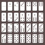 Domino full set. Flat slyle Royalty Free Stock Photos