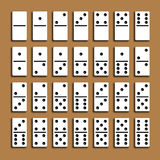 Domino full set. Royalty Free Stock Photo