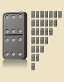 Domino game block. Illustration of black domino game blocks Royalty Free Stock Photo